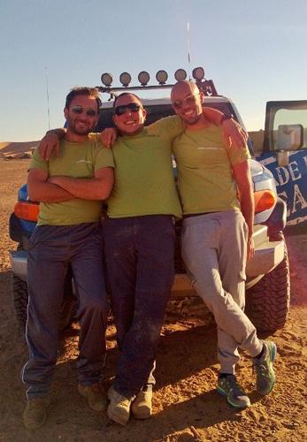 il team builder della Made In Team durante eventi team building nel deserto del Sahara!